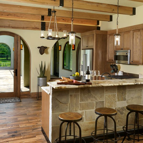 Guest Suite Kitchen At The Hacienda By Custom Home Builder Camlin Custom Homes