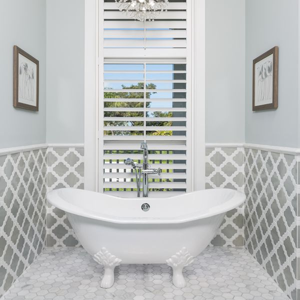 Lowcountry Bathroom At Riverfront Low Country By Custom Home Builder Camlin Custom Homes