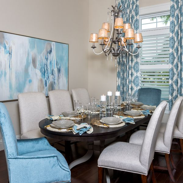 Dining room At British West Indies By Custom Home Builder Camlin Custom Homes