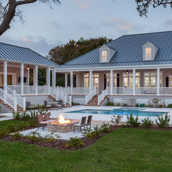 Lowcountry Home At Riverfront Low Country By Custom Home Builder Camlin Custom Homes