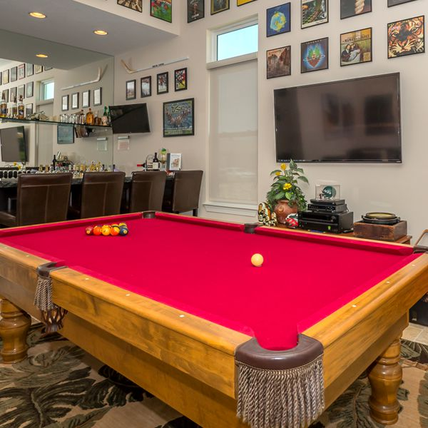Game Room At British West Indies Two Story By Custom Home Builder Camlin Custom Homes