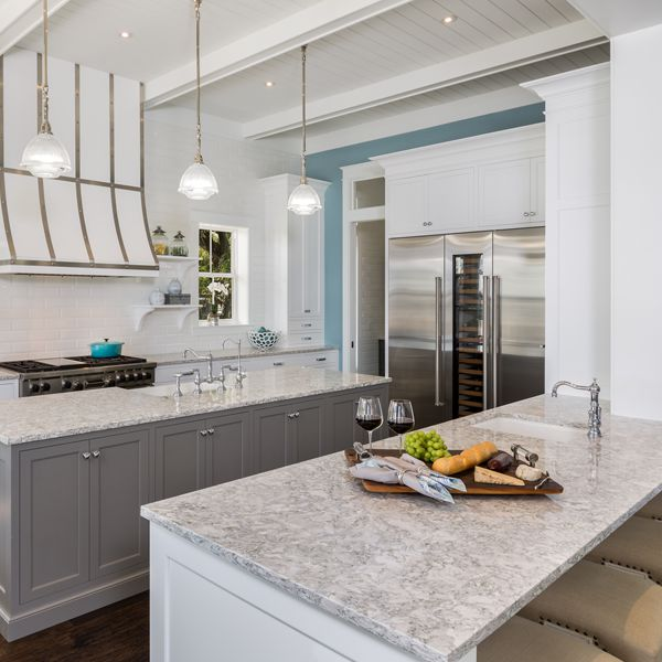 Kitchen At Riverfront Low Country By Custom Home Builder Camlin Custom Homes