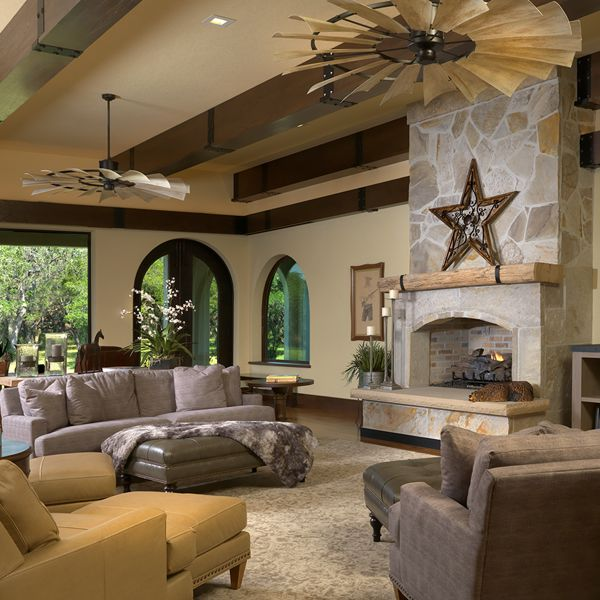 Living Room At The Hacienda By Custom Home Builder Camlin Custom Homes