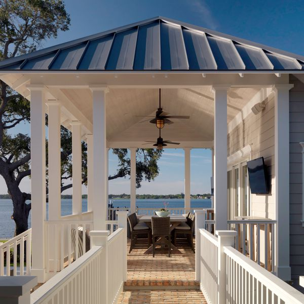 Riverview Poolhouse At Riverfront Low Country By Custom Home Builder Camlin Custom Homes