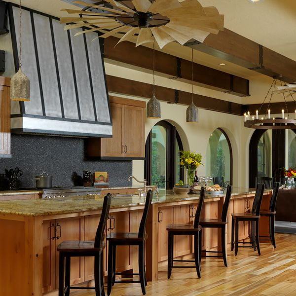 Kitchen At The Hacienda By Custom Home Builder Camlin Custom Homes