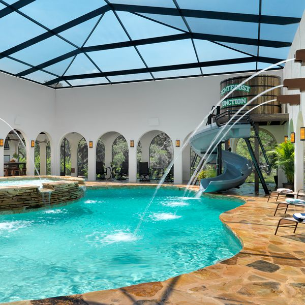 Pool Area At The Hacienda By Custom Home Builder Camlin Custom Homes