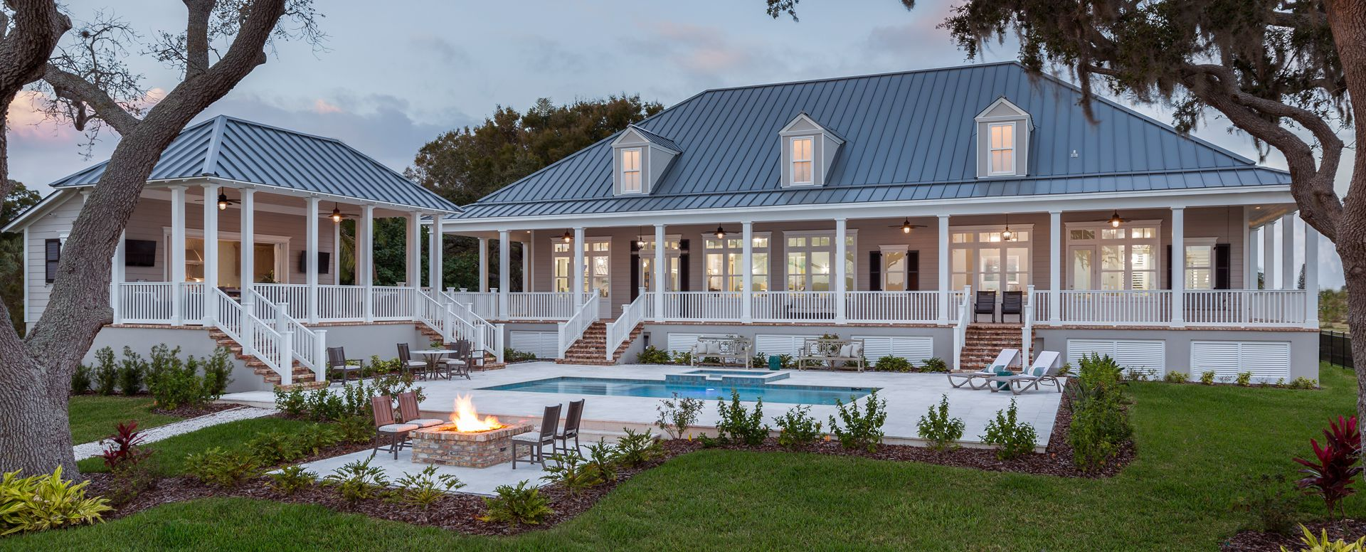 Riverfront low country for Low country house