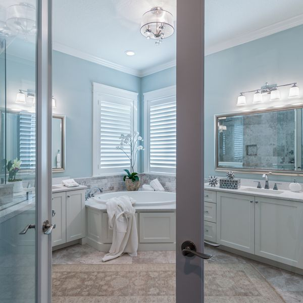 Master Bathroom At British West Indies By Custom Home Builder Camlin Custom Homes