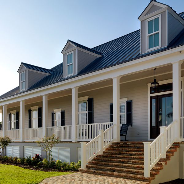 Lowcountry Porch At Riverfront Low Country By Custom Home Builder Camlin Custom Homes